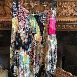 Sunny Leigh pleated paisley skirt